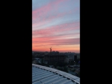 Roof, sunset