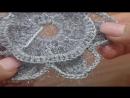 How To Crochet Snowflake Pattern Урок 8 часть 1 из 2 Вязание крючком снежинка
