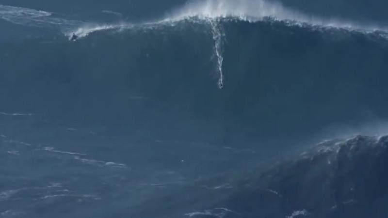 Самые большие волны в мире! Назаре, Португалия.