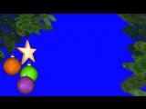 Футаж Рамка новогодняя с шарами хромакей (1)