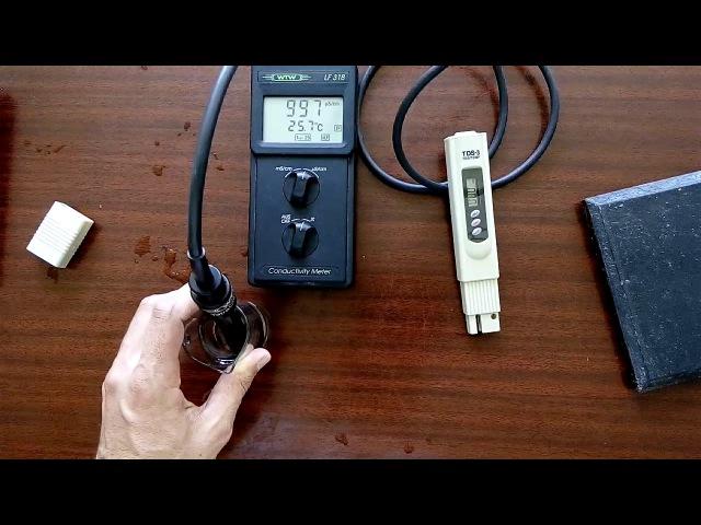 Тест дешевого китайского кондуктометра (TDS meter).Testing the cheap Chinese (TDS meter).