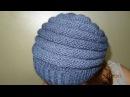 Вяжем шапку спицами