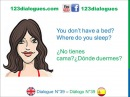 Dialogue 39 Inglés Spanish Furniture vocabulary Muebles vocabulario