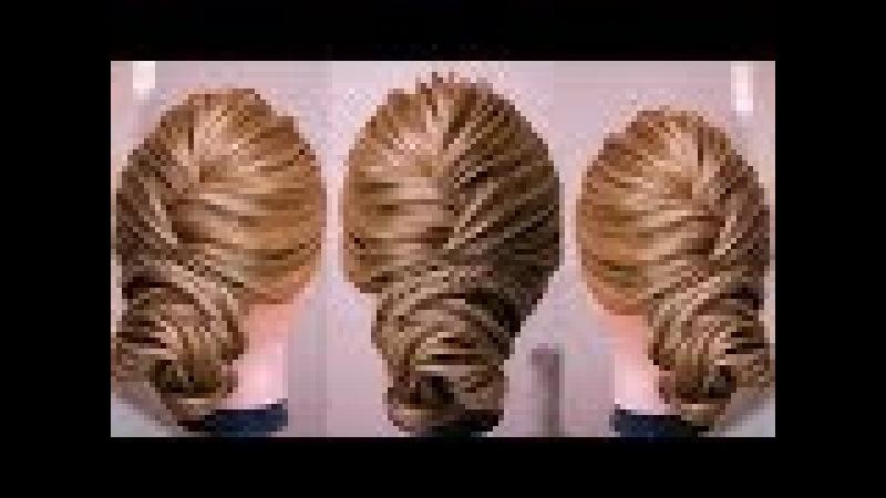 Низкий пучок Рёбрышки Видео урок Hair tutorial