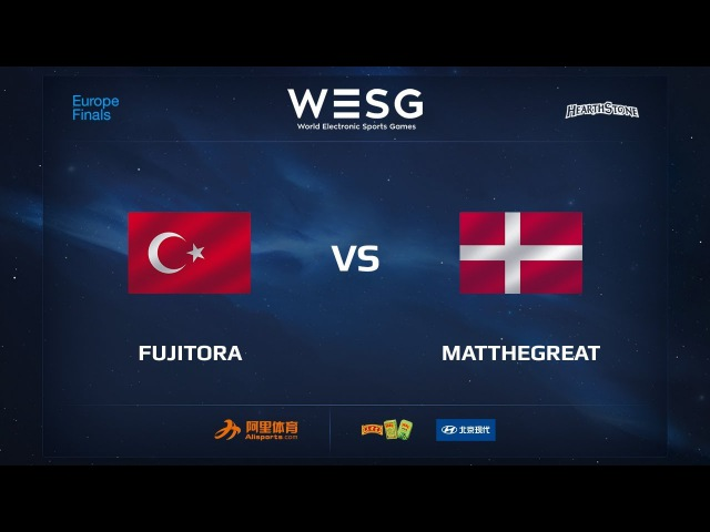 Fujitora vs MatTheGreat, Part 1, WESG 2017 Hearthstone European Qualifier Finals