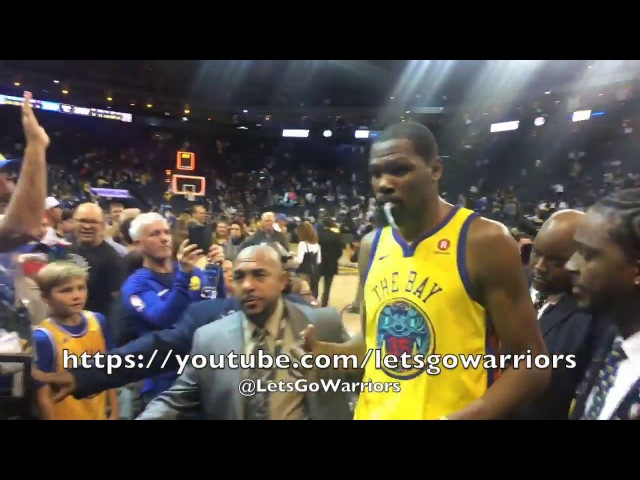 Postgame tunnel courtside JaVale Draymond Durant at Oracle Arena Warriors vs Spurs