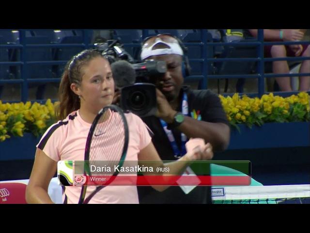 Dubai Tennis 2018 - WTA Highlights R1 Kasatkina d Radwanska