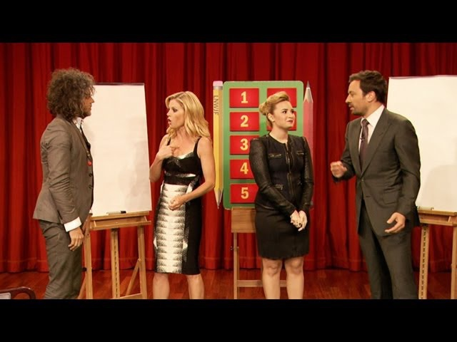 Pictionary with Demi Lovato, Julie Bowen, Wayne Coyne Jimmy Fallon, Part 1