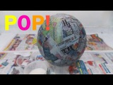 How to make a Pinata base, bowl, ball, sphere  Paper Mache Paste  Cheap, Simple and Easy