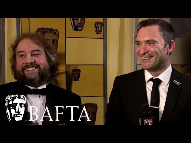 Backstage Interview With Jonathon Amos Paul Machliss   EE BAFTA Film Awards 2018