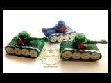 Танк-сувенир из глиттерного фоамирана. Tank souvenir from glitter fojmirana.