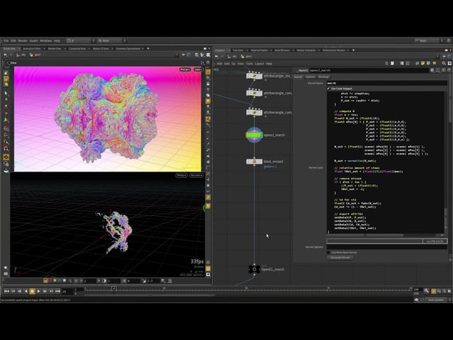 Raymarching fractal | Houdini VEX vs OpenCL