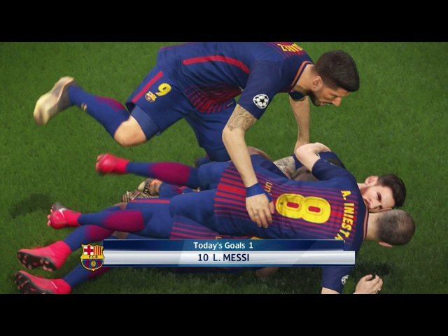 Barcelona vs Manchester City | Final UEFA Champions League 2017-2018 | Gameplay PES 2018