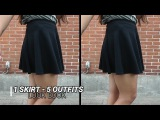 LOOK BOOK l 1 skirt, 5 outfits