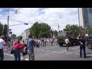 25 мая 2014. Донецк. Батальон Восток на митинге в Донецке 25 мая