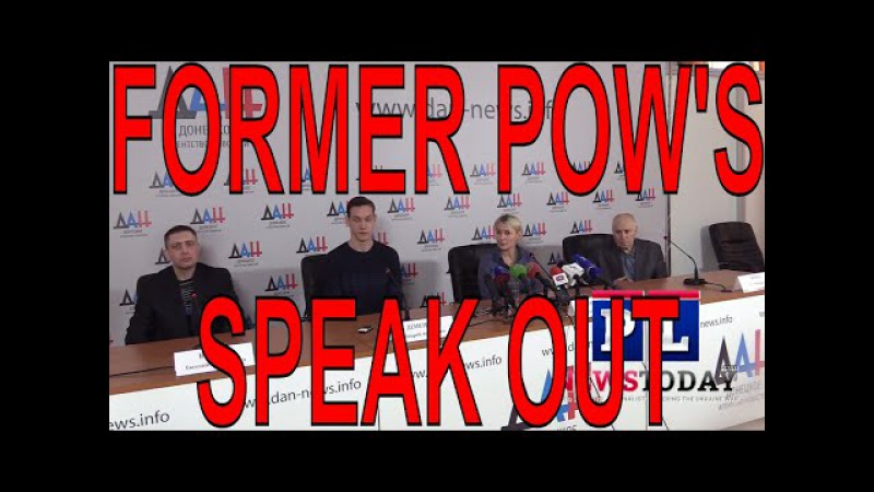 3 Former POW's , 1 a Former Ukraine Officer, give Press Conference with DPR's Daria Morozova