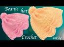 Gorro Tejido a Crochet en punto arroz en relieve con lazo calado Mariposa tallermanualperu