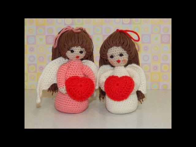 Игрушка амигуруми Ангелочек. Мастер-класс крючком. (Аngel crochet)