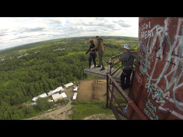 Прыжки с Трубы (88 метров) с командой RAPT - София