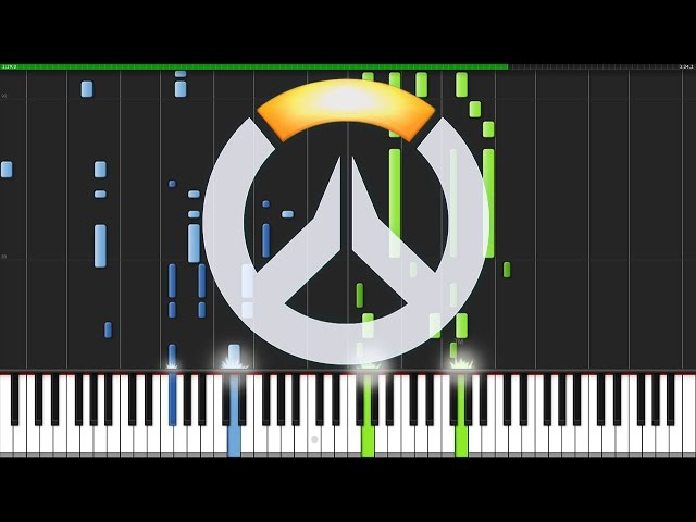 Main Theme & Victory Theme - Overwatch [Piano Tutorial] (Synthesia) AniPiano