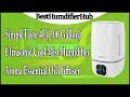SimpleTaste 4L(1.06 Gallon) Ultrasonic Cool Mist Humidifier Aroma Essential Oil Diffuser Review