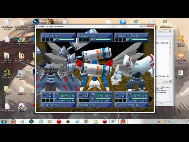 PSX Digimon World 2 Gameshark Boss