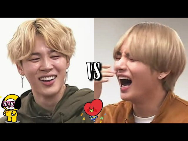 BTS - Jimin´s Laugh VS V´s Laugh ( Cute Moments)