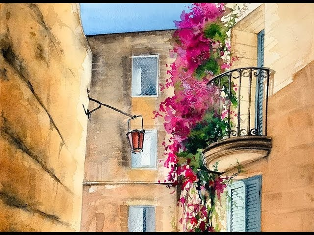 Watercolor Mdina Painting Demonstration