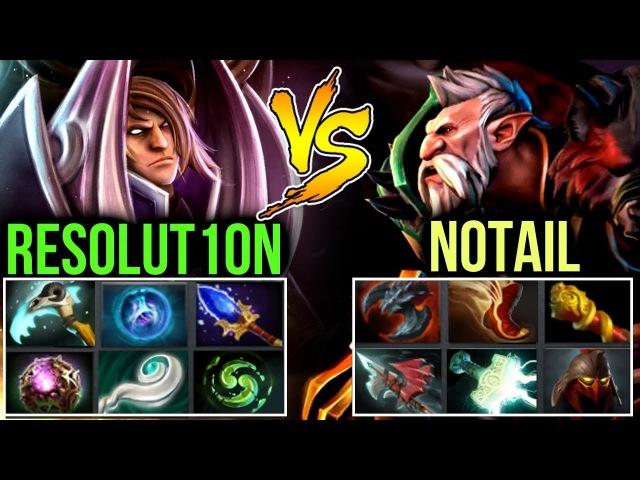 Resolut1on vs Notail - Wex Build Invoker vs Range Lone Druid DOTA 2