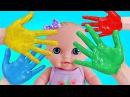 Куклы Пупсики Играют в Пальчиковые краски для детей. Детский канал Зырики ТВ Игр...