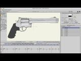 Готовая настроенная модель РЕВОЛЬВЕРА для анимации в программе Anime Studio Pro (Moho)