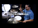 Applying Rudiments On The Drums - 5 Stroke Roll Hat Lick- With Eric Fisher