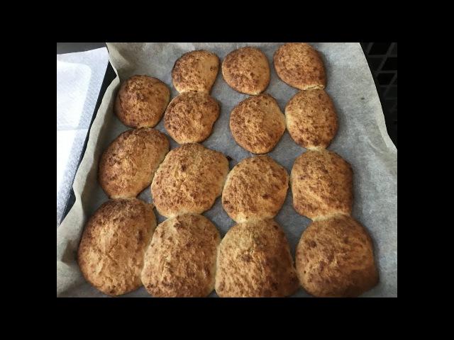 Низкокалорийное кокосовое печенье без сахара