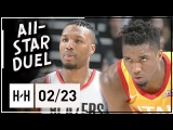 Damian Lillard vs Donovan Mitchell All-Star Duel Highlights (2018.02.23) Jazz vs Blazers - SICK!