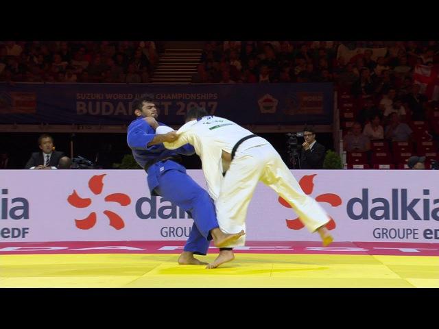 WC Budapest 2017, 100 kg, 1/4 finals, Elmar Gasimov(AZE)-Aaron Wolf(JPN) vk.com/dzigoro_kano