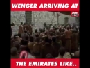 Wenger arriving at Emirates