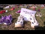 7 000 пар детской обуви выложили у Капитолия противники оружия