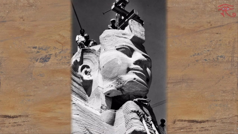 Абу-Симбел перенос храма Рамсеса второго ⁄ Abu Simbel temple of Ramses the second transfer