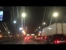 Неожиданная пробка по дороге в аэропорт из за дорожных работ
