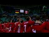 Российские хоккеисты спели гимн России под музыку олимпийского гимна после победы на ОИ