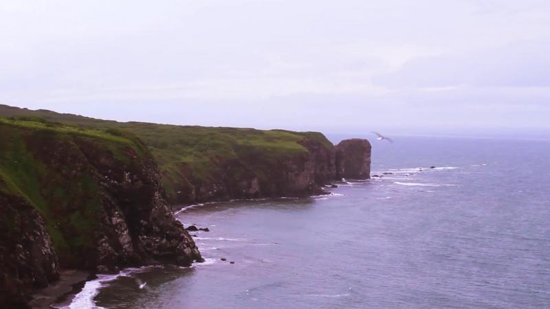 Камчатка, мыс Маячный, Тихий океан. Kamchatka, cape Mayachny, Pacific ocean