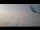 сплетают кружева самолёты из облаков