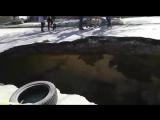 Огромный провал в Таганроге