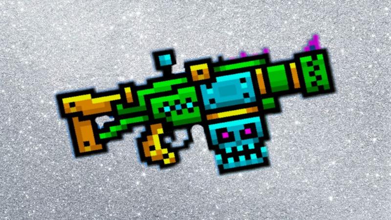 Пиксель ган 3д. Обзор на пушку:Адамантовый бомбомет.