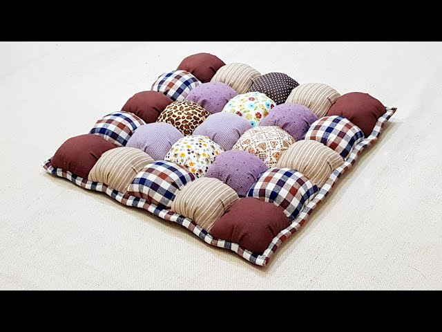 How to make a Bubble Puff Quilt 【泡芙拼布垫】Mothers Day Gift Ideas ❤ 母亲节礼物HandyMum