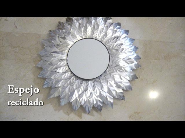 DIY - Espejo reciclado con latas de refresco