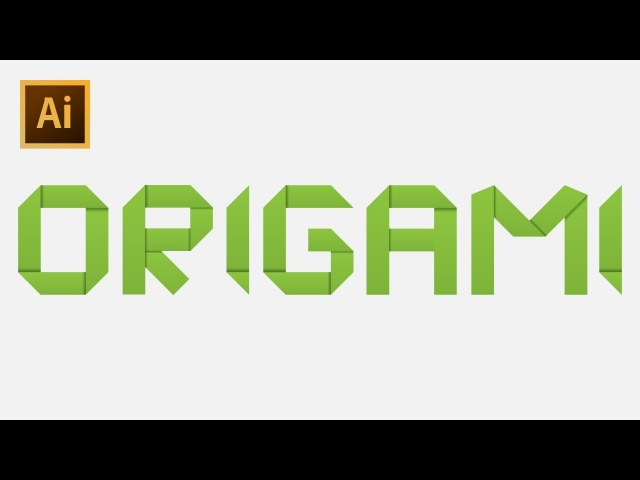How to Draw Origami Text - Adobe Illustrator