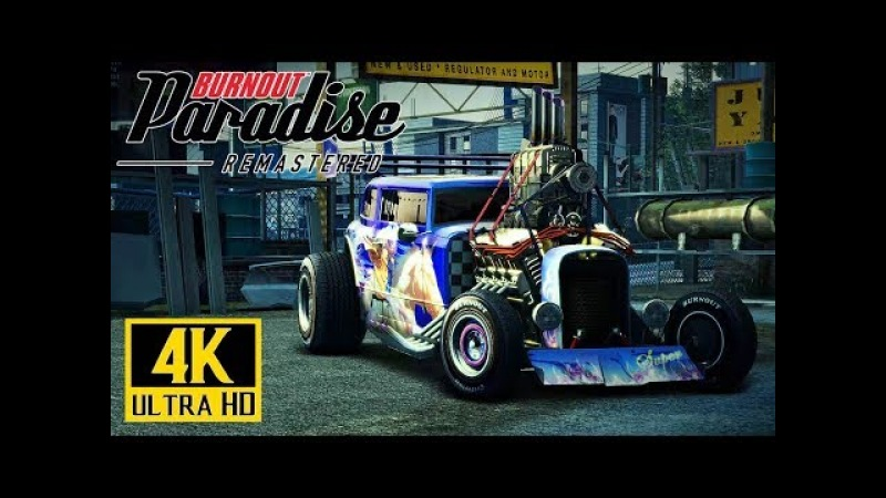 [4K] BURNOUT Paradise Remastered - Xbox One X Gameplay 60ᶠᵖˢ @ 2160p ✔