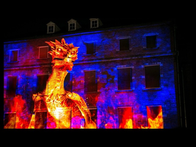 Dragon at the Ghent light festival 2018