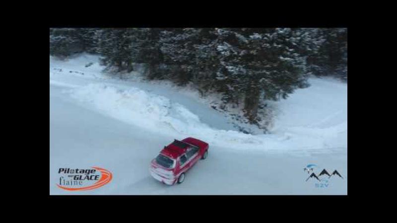Drift Mazda 323 GTX Flaine Circuit Glace Ice Track 07.01.2017
